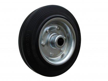 Kolečko samostatné, černá pryž 31100-01 (Průměr kola(mm) 200, Nosnost(kg) 205, Průměr/délka náboje(mm) 20/59)