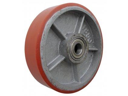 Kolečko samostatné, polyuretanová obruč 39180-03 (Průměr kola(mm) 400, Nosnost(kg) 3500, Průměr/délka náboje(mm) 50/120)
