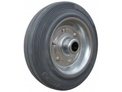 Kolečko samostatné, šedá pryž 64080-01 (Průměr kola(mm) 200, Nosnost(kg) 205, Průměr/délka náboje(mm) 20/57)
