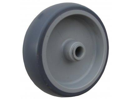 Kolečko samostatné, termoplastická guma 40080-01 (Průměr kola(mm) 125, Nosnost(kg) 100, Průměr/délka náboje(mm) 10,1/35)