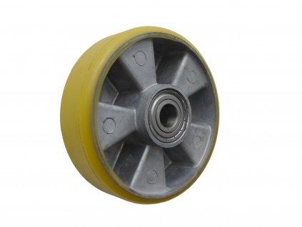 kolečko solo, polyuretanová obruč 55100-03 (Průměr kola(mm) 180, Nosnost(kg) 450, Průměr/délka náboje(mm) 20/60)