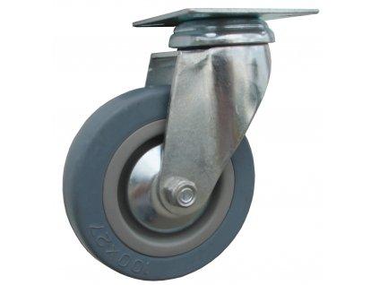 Kolo otočné, šedá pryž 59050-05 (Průměr kola (mm) 125, Nosnost (kg) 60, Rozteč otvorů (mm) 55 x 55)
