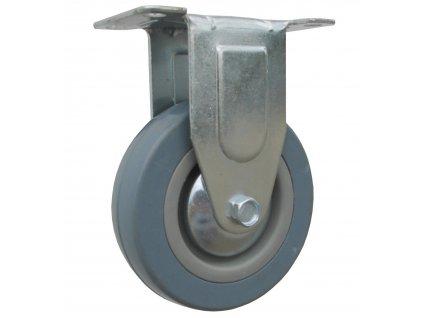 Kolo pevné, šedá pryž 59050-15 (Průměr kola (mm) 125, Nosnost (kg) 60, Rozteč otvorů (mm) 81 x 40)