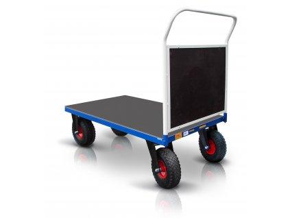 Plošinový vozík 1 X madlo s doskou PROFI s nafukovacími kolesami 52608-35