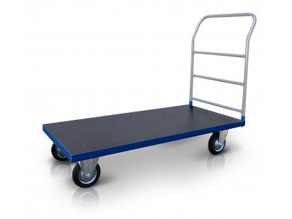 Plošinový vozík 1 x madlo s vodorovnými příčkami 500 kg PROFI 52608-11 (Rozměry (mm) 800 x 1300)