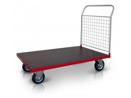 Plošinový vozík 1 x madlo se sítí 500 kg PROFI 52608-21 (Rozměry (mm) 800 x 1300)
