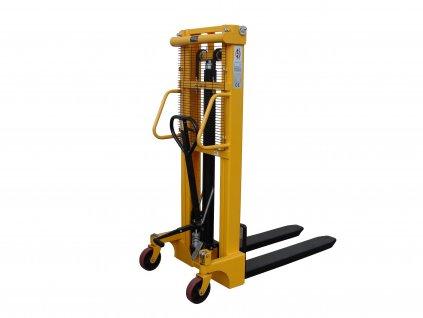 Vysokozdvižný vozík ruční zdvih 2500 mm nosnost 1000 kg 22004-03 (Materiál kol Přední polyuretan / hliník - Zadní polyuretan / kov)