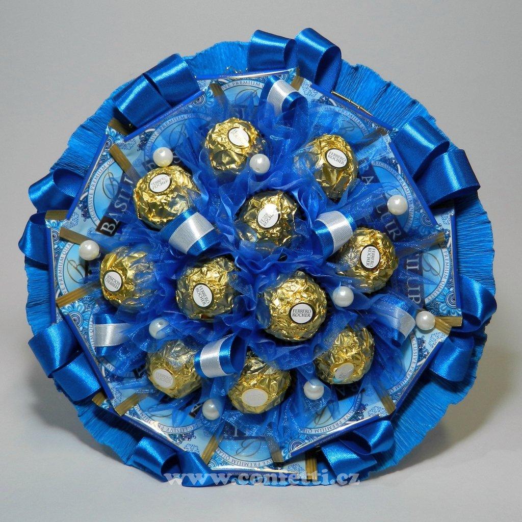 kyticka z bonbonu modra hvezda 1