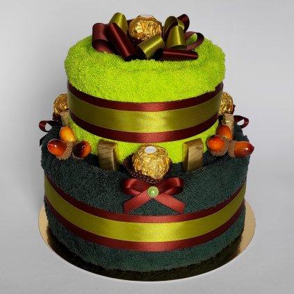 dvoupatrovy dort z osusky rucniku pro myslivce 1