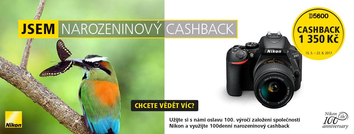 Nikon narozeninový cashback D5600