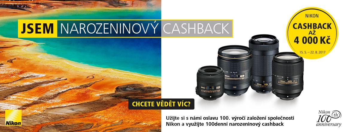 Nikon narozeninový cashback objektivy
