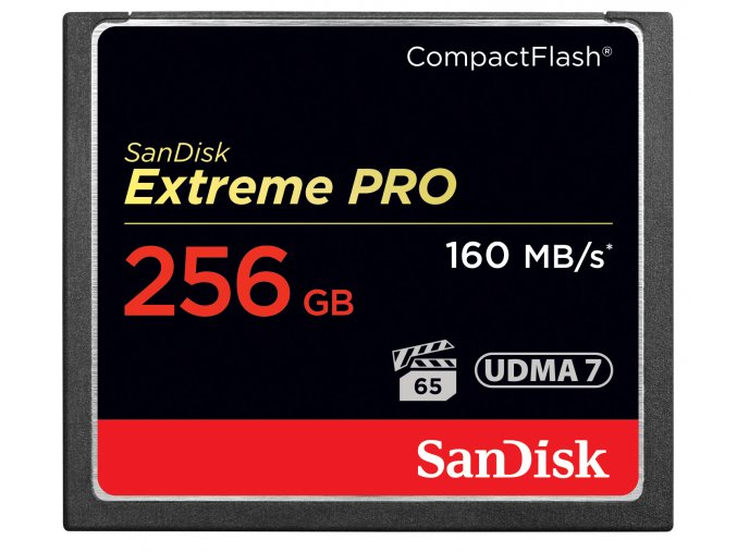 SanDisk256GB CF Extreme Pro 160MB/s