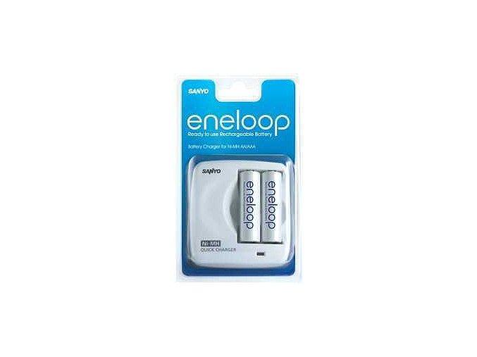 Sanyo MDR02 nabíječka + 2xAA Eneloop 2000mAh