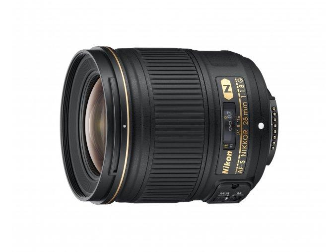 Nikon AF-S Nikkor 28mm f1.8G - zpětný bonus 1.250,-Kč