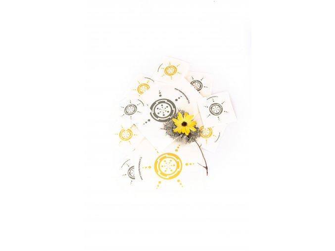 OCHRANNÁ SAMOLEPKA | TVAROVÝ ZÁŘIČ OCHRANA (Barva zlatá lesk, Velikost 70cm)