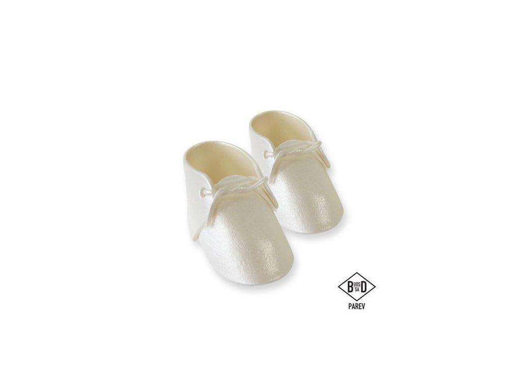 perleťové jedlé detské topánky