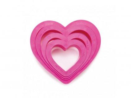 Kiszúró készlet - szívek 4 db