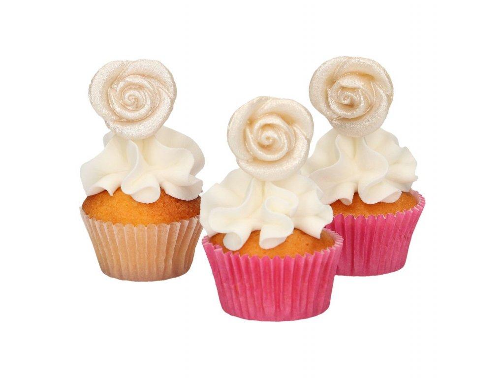 marcipánové ruže perleťové