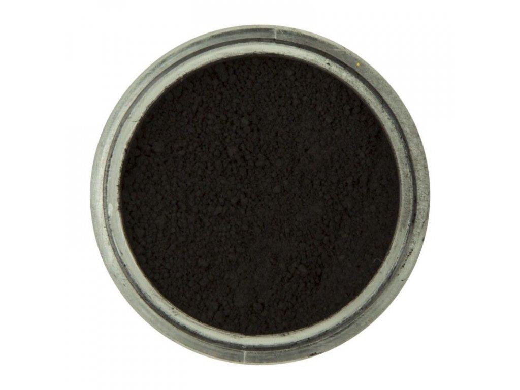 čierna prachová jedlá farba
