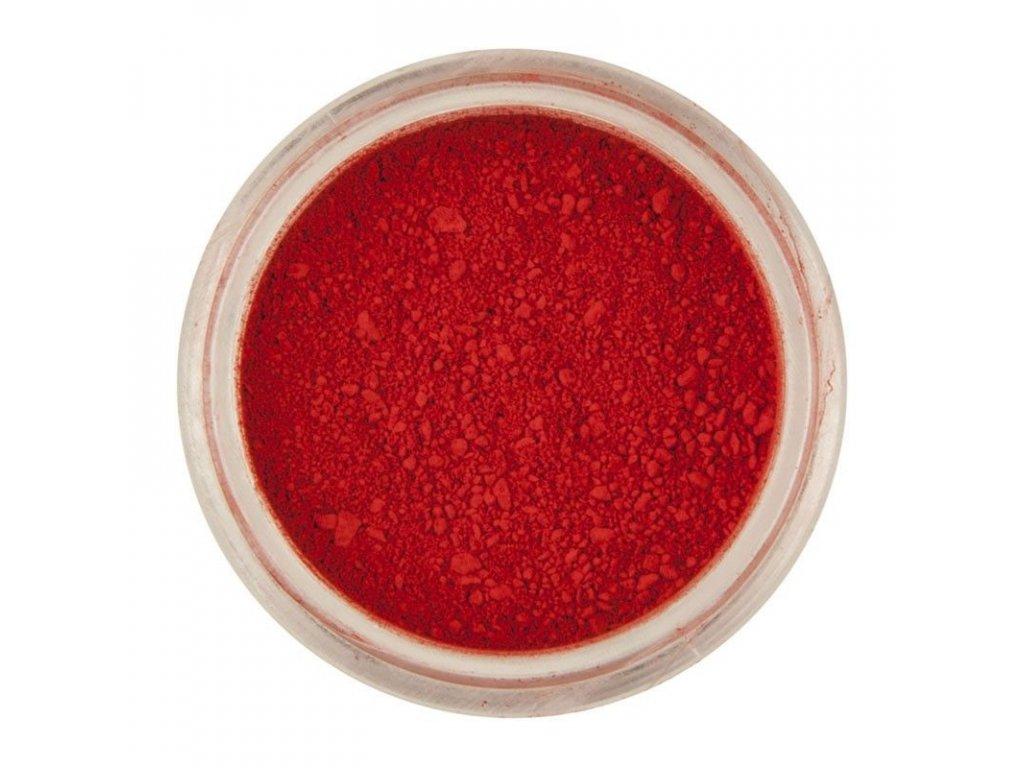 červená prach farba jedla