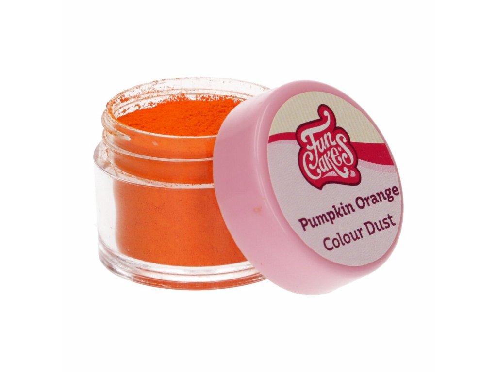 oranžová jedlá farba prašková