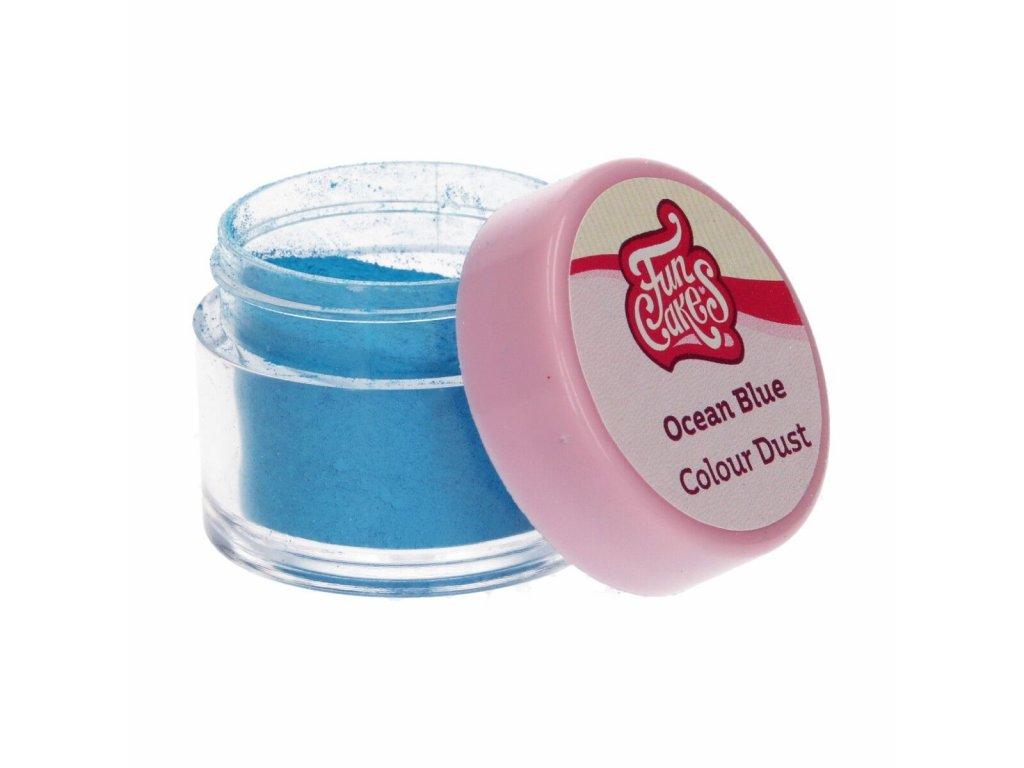 modrá jedlá farba prášková