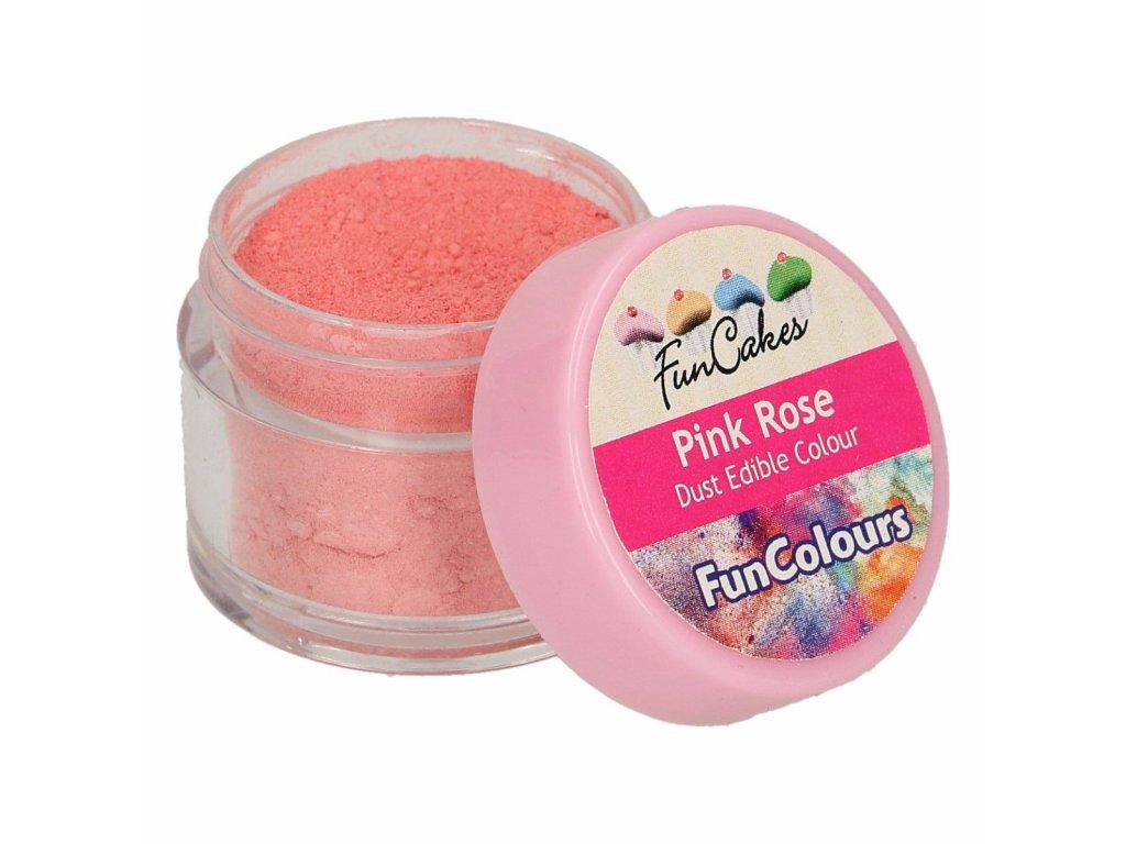 ružová jedlá prášková farba