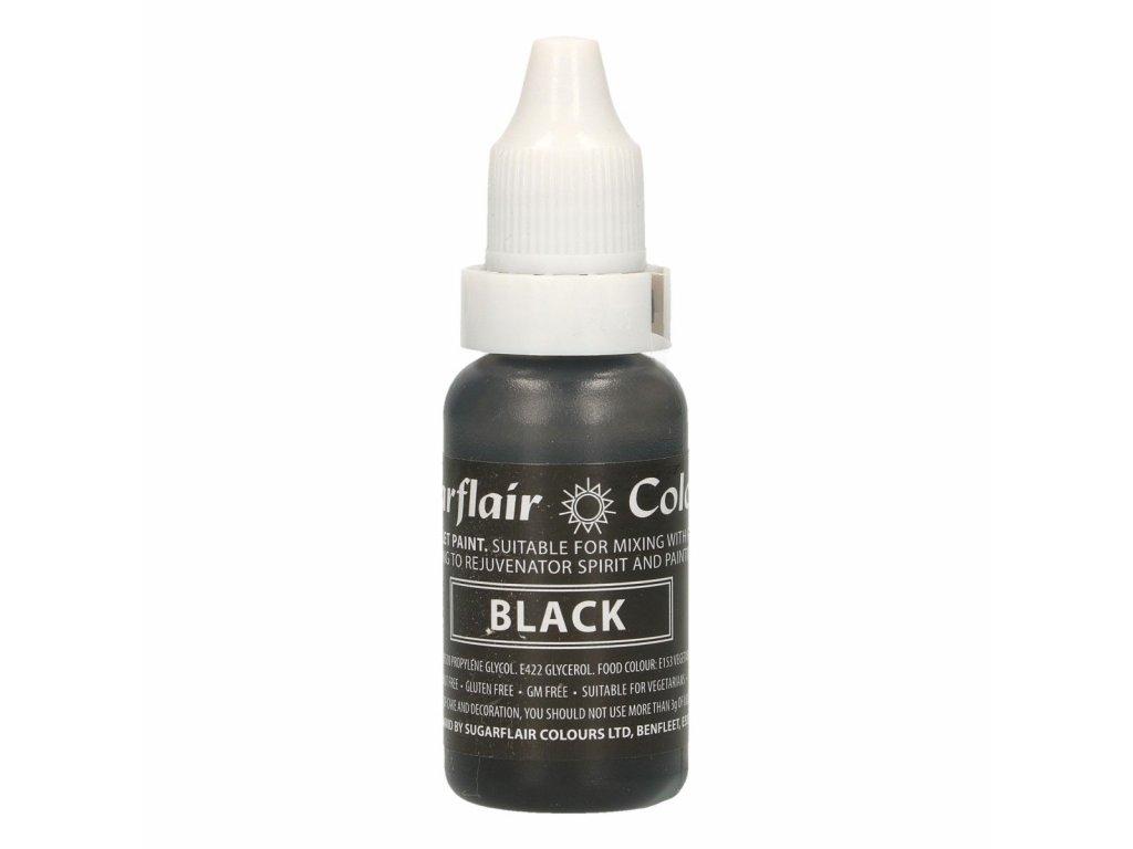 tekutá potravinárska farba čierna