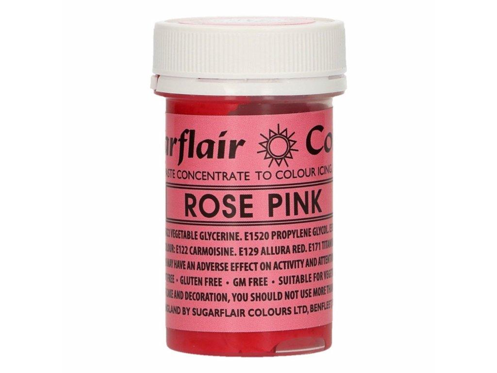ružová gélová jedlá farba