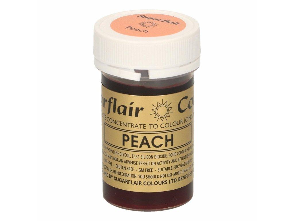 peach gélová jedlá farba