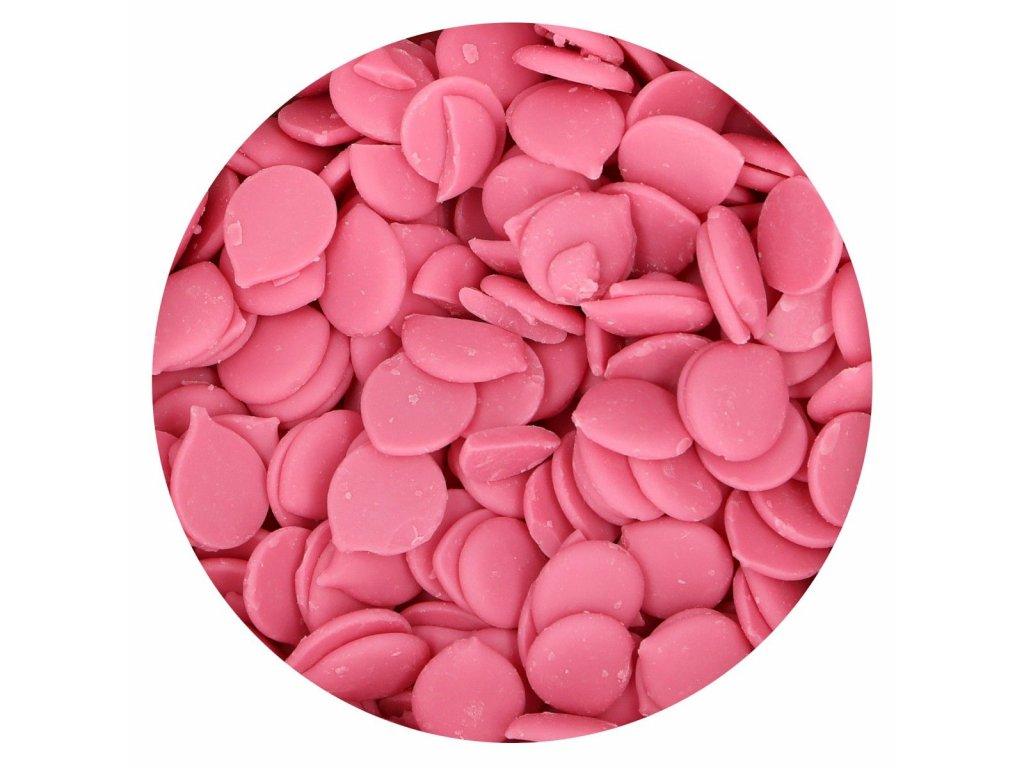 čokoládová poleva ružová