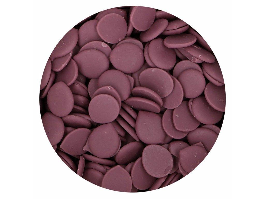fialová čokoládová poleva