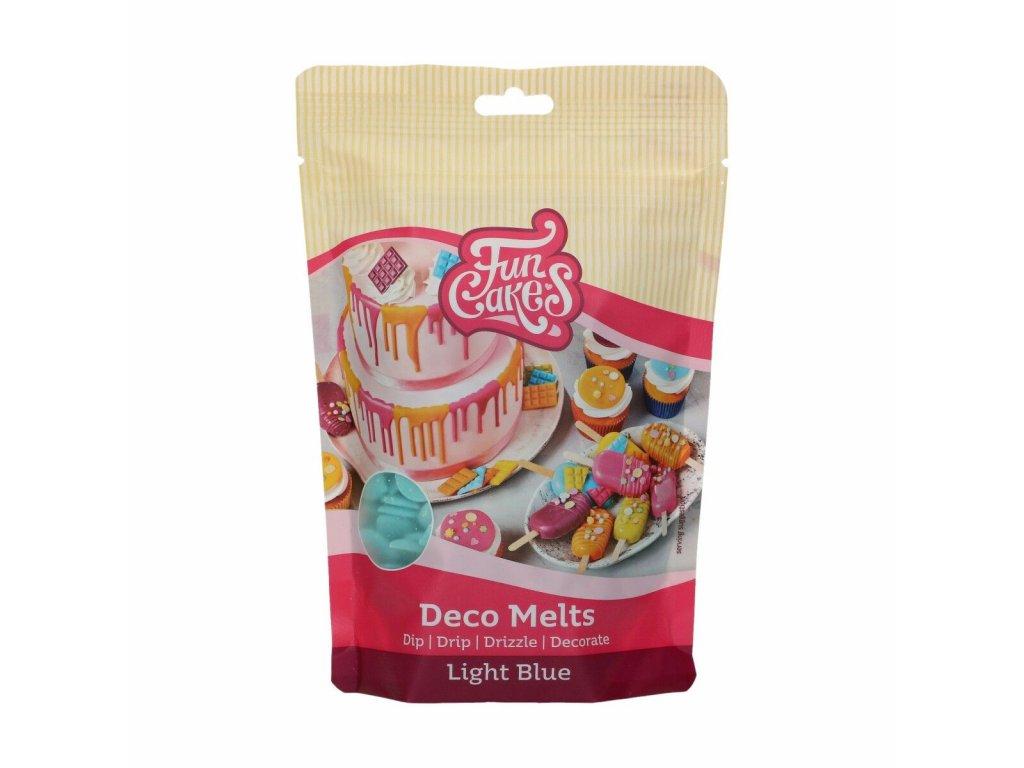 modrá čokoládová poleva