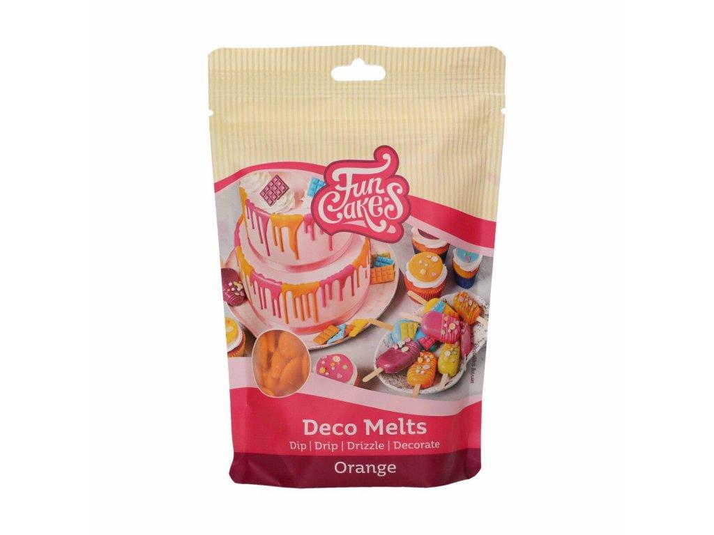 oranžová čokoládová poleva
