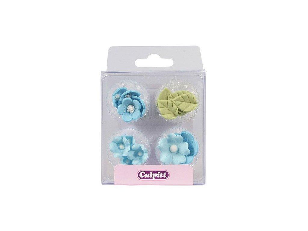 modré cukrové kvety