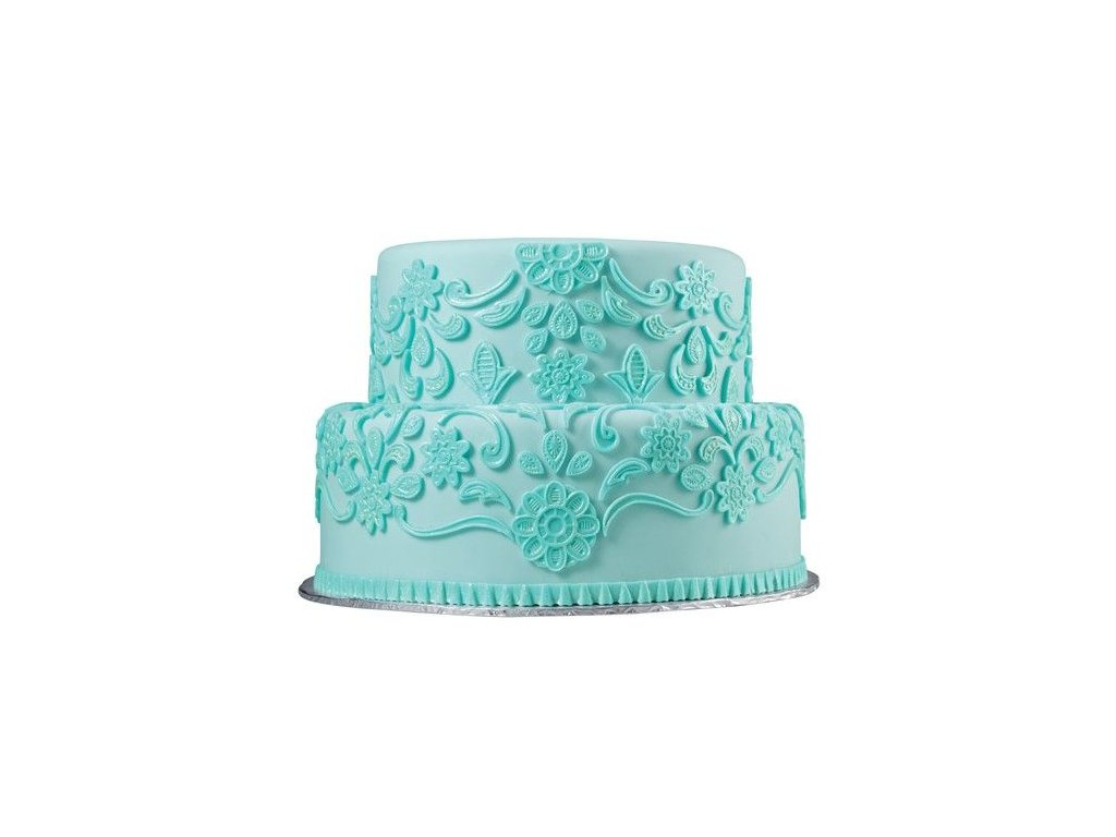 čipkované zdobenie koláčov