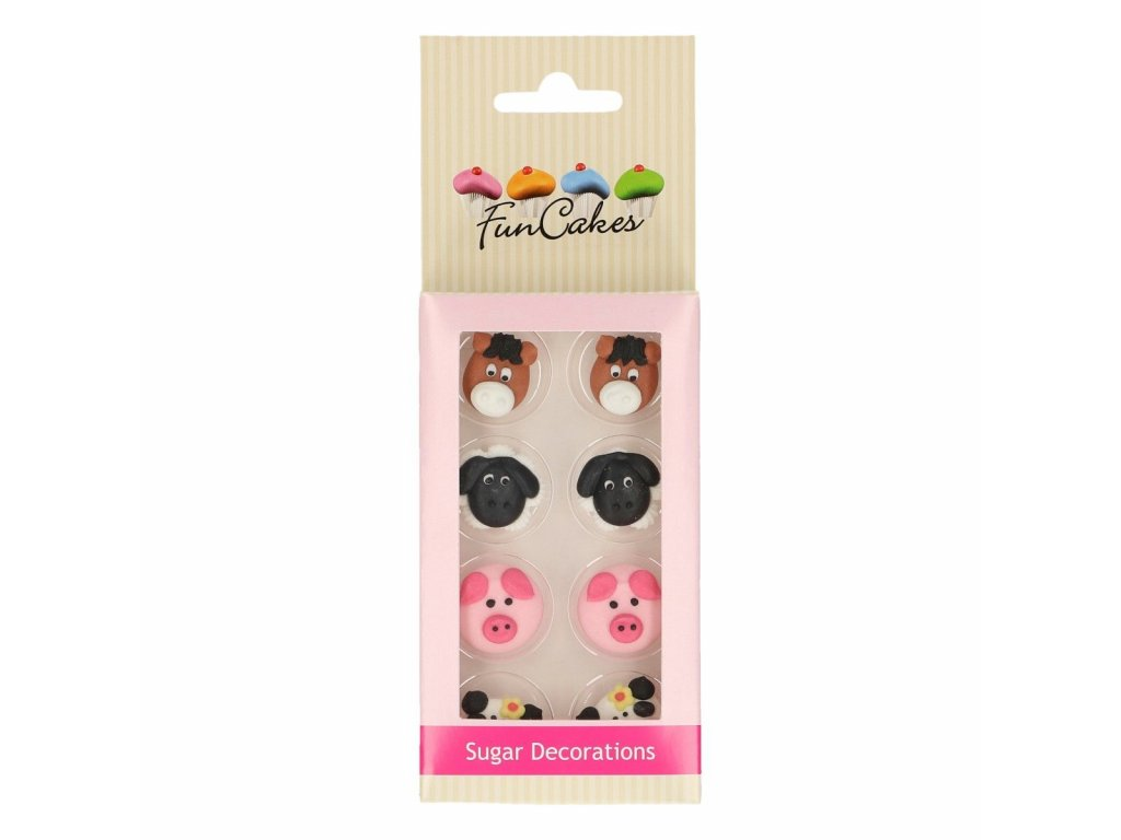 cukrové dekorácie zvieratká