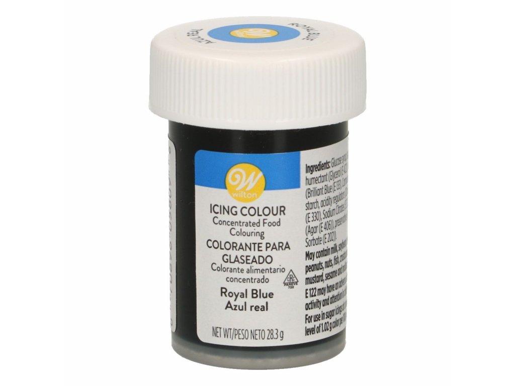 gélová potravinárska farba modrá