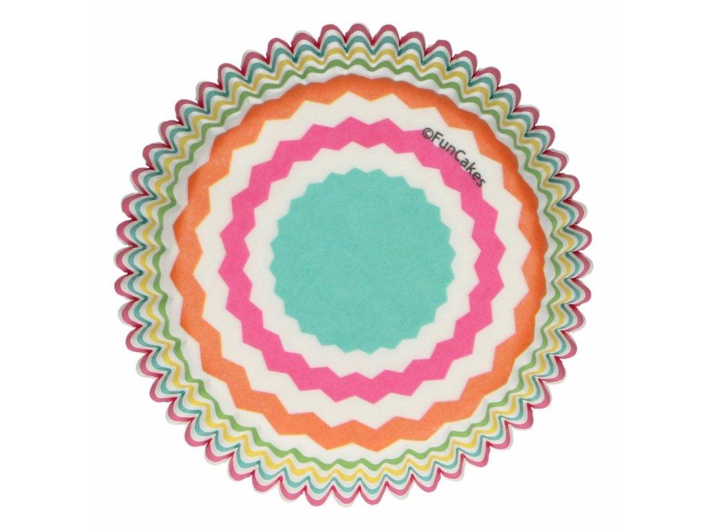 papierové farebné košíčky