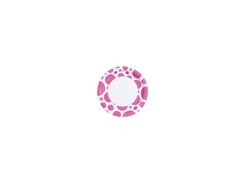 Taniere ružové bodkované