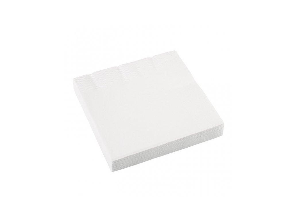 Servítky biele 20 ks