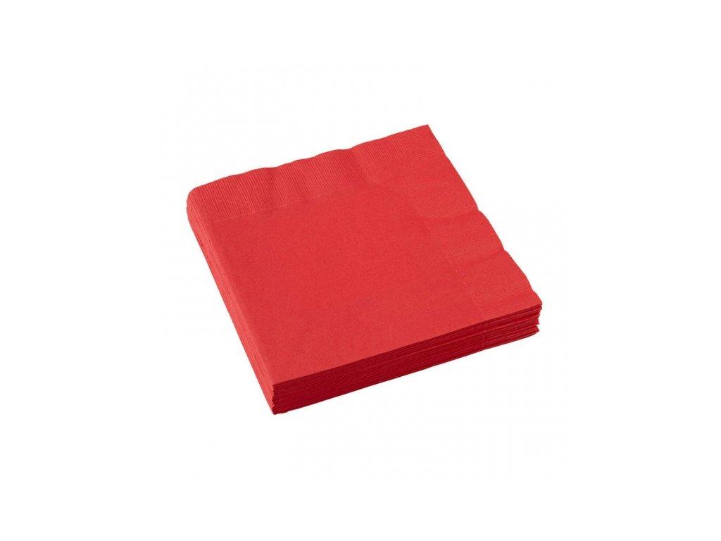 Servítky červené 20 ks