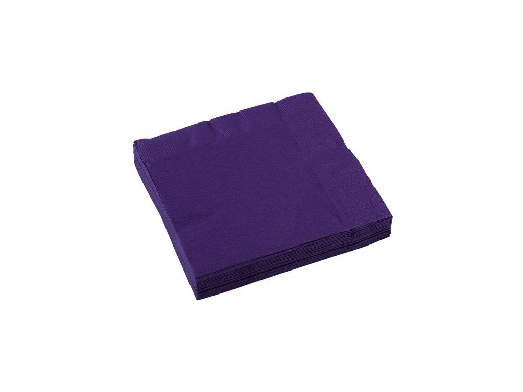 Servítky fialové 33 x 33 cm