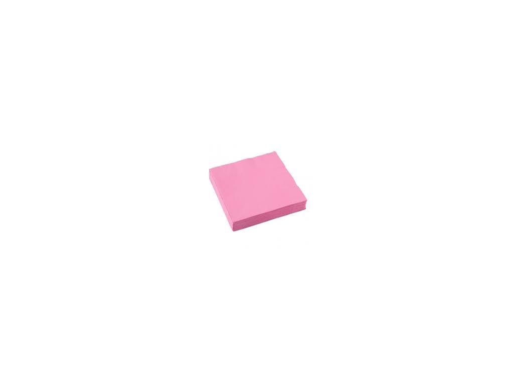 Servítky - Ružová 33x33 cm