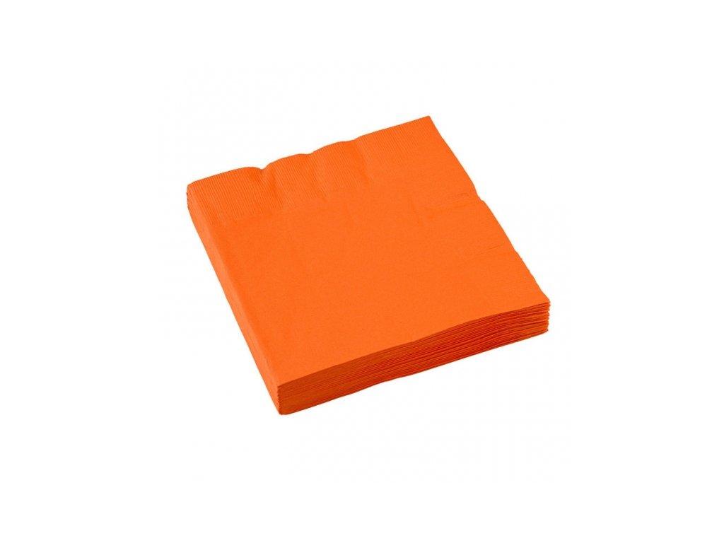 Oranžové servítky 25x25 cm
