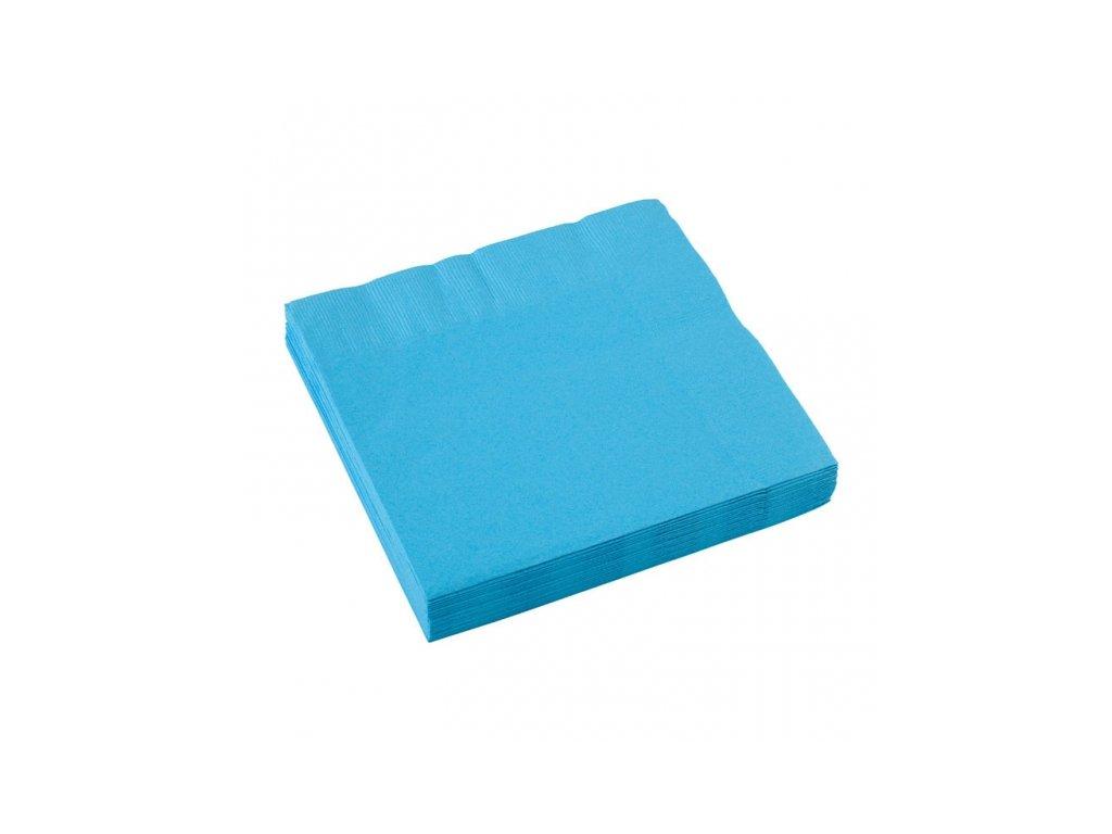 Modré servítky 25x25 cm