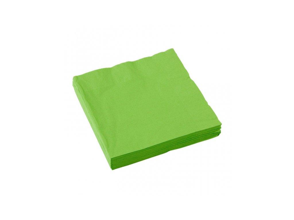 Zelené servítky 25x25 cm