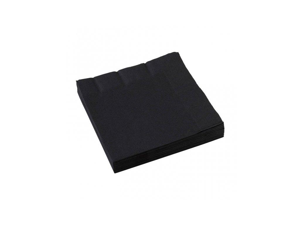 Čierne servítky 25x25 cm