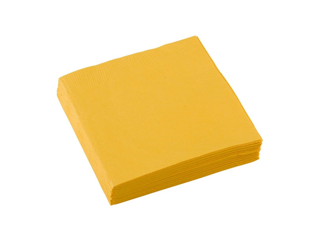 Žlté servítky 25x25 cm