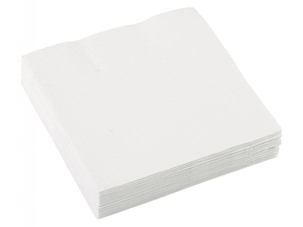 Servítky - Ľadová biela 33x33 cm
